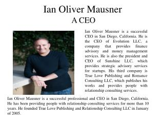 Ian Oliver Mausner A CEO