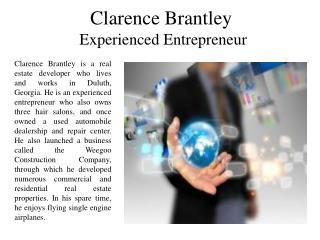 Clarence Brantley Experienced Entrepreneur