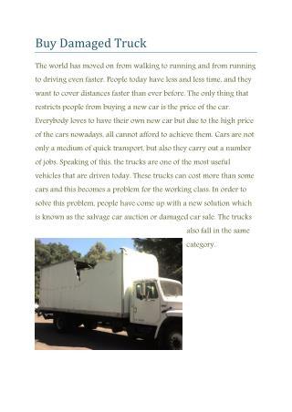 Damaged truck for sale