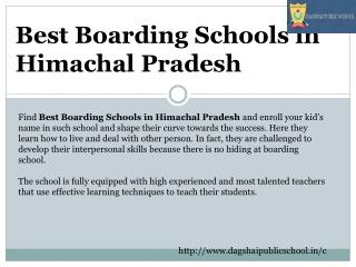 Best Boarding Schools in Himachal Pradesh