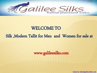 Silk mordern tallit for men and women at galileesilks