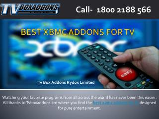 Latest and Best Xbmc Addons For Tv