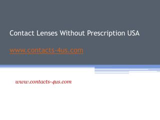 Order Contacts without Prescription