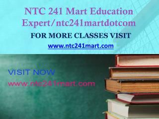 NTC 241 MART peer educator/ntc241martdotcom