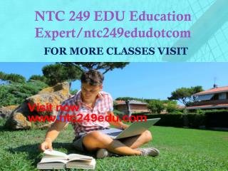NTC 249 EDU peer educator/ntc249edudotcom