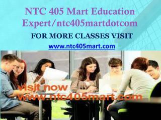 NTC 405 MART peer educator/ntc405martdotcom