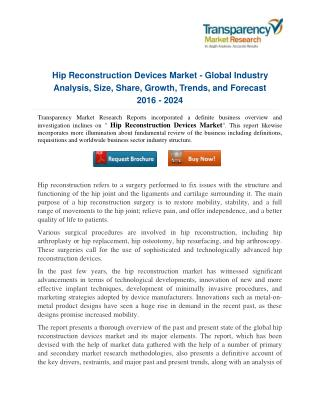 The dynamics and strategic analysis of Global Hip Reconstruction Devices Market in the healthcare industry