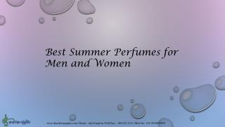 Best summer perfumes for men and women - Arabian Nights