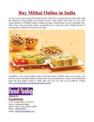 Buy Mithai Online in India
