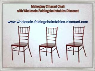 Mahogany Chiavari Chair with Wholesale-Foldingchairstables-Discount