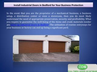 Install Industrial Doors in Bedford for Your Business Protection