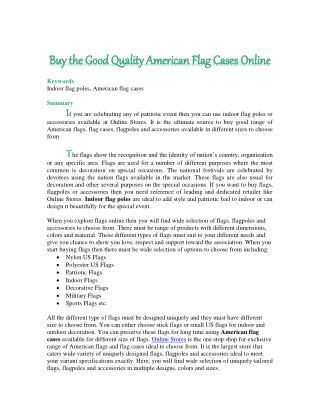 Buy the Good Quality American Flag Cases Online