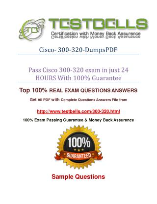 300-320 Questions Answers With 100% Passing Guarantee