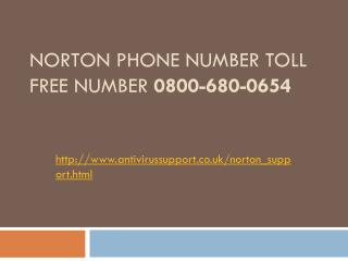 Norton Phone Number toll free number 0800-680-0654