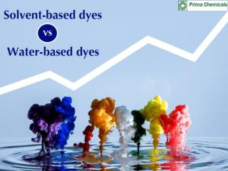Water-based dyes VS solvent-based dyes
