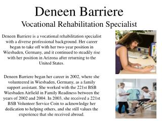 Deneen Barriere - Counselor Experience
