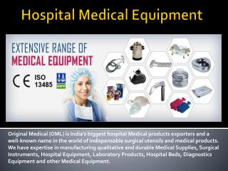 Hospital Medical Equipment Manufacturer