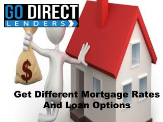 Get Different Mortgage Rates And Loan Options