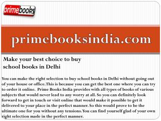 Make your best choice to buy school books in Delhi