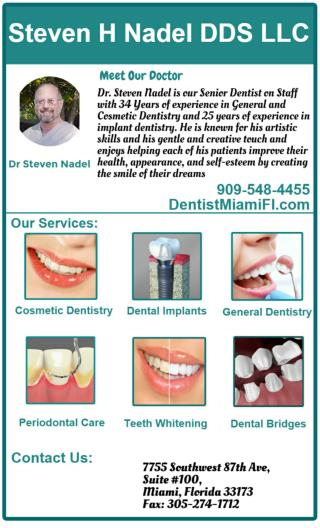 Dental Implants in Miami Florida, by Implant Dentist Dr. Nadel