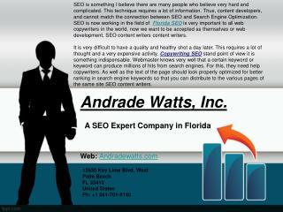Expert Florida SEO Company - Andrade Watts, Inc.