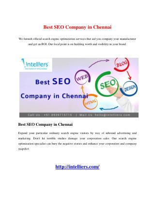 Best SEO Company in Chennai