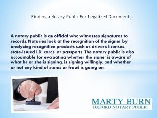 Finding a Notary Public For Legalized Documents