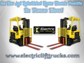 Get New And Refurbished Hyster Electric Forklifts In Texas Now!