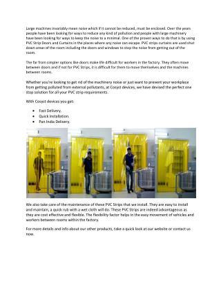 Usefulness of PVC Strip Curtainsl