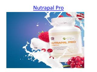 Your Healhy Comapnion Nutrapal Pro