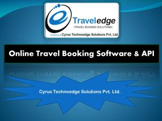 Travel Booking Software - Cyrus Recharge