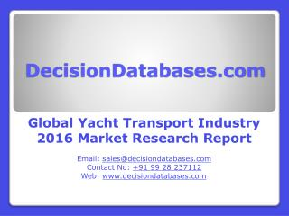Yacht Transport Market Global Analysis and Forecasts 2021