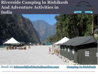 Riverside Camping in Rishikesh And Adventure Activities