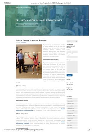Physical Therapy To Improve Breathing