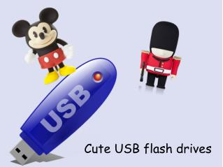 Cute USB flash drives