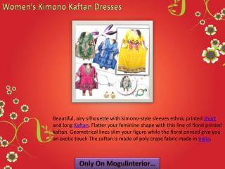 Bohemian Kimono Kaftan Dresses
