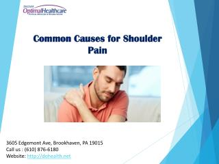 Common Causes for Shoulder Pain