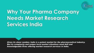 Why Your Pharma Company Needs Market Research Services India