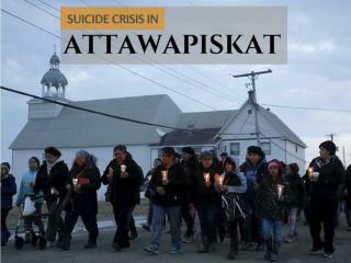 Suicide crisis in Attawapiskat