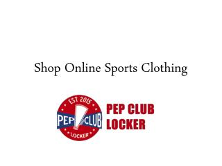Shop Online Sports Clothing