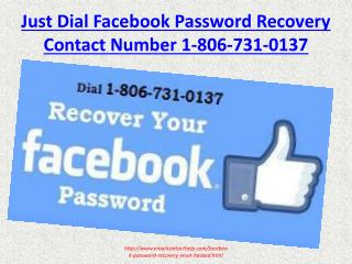Facebook Forgot Password Recovery 1-806-731-0137 Reset Hacked Account