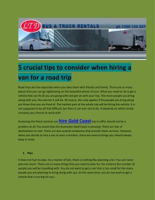 truck rental gold coast