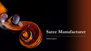 Textile Export is the Manufacturer and Wholesaler of Saree in Surat, India at Cheap Price