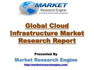 Global Cloud Infrastructure Market is Expected to Reach US$ 206.93 Billion by the end of 2020