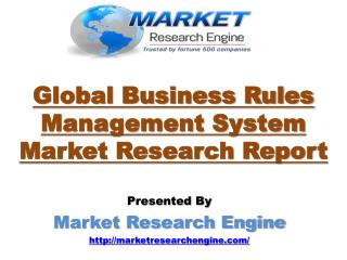 Global Business Rules Management System Market is Envisioned to Reach US$ 1,443.9 million by 2020