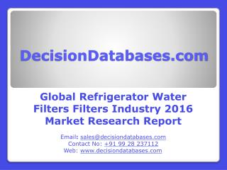 Refrigerator Water Filters Market Research Report: Global Analysis 2016-2021