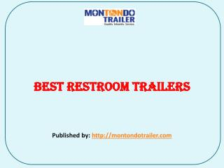 Best Restroom Trailers