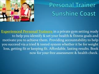 Personal Trainer Sunshine Coast
