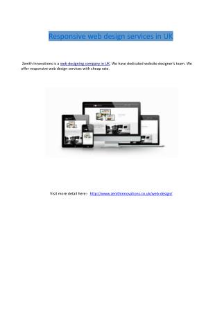 Responsive web design services in UK