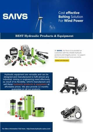 Best Hydraulic Products & Equipment